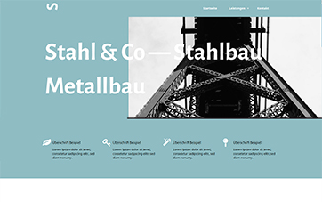 Website Template Stahlbau Metallbau
