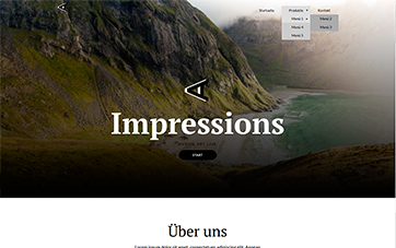 Website Template Impressionen