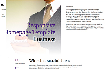 Business Homepage Layout