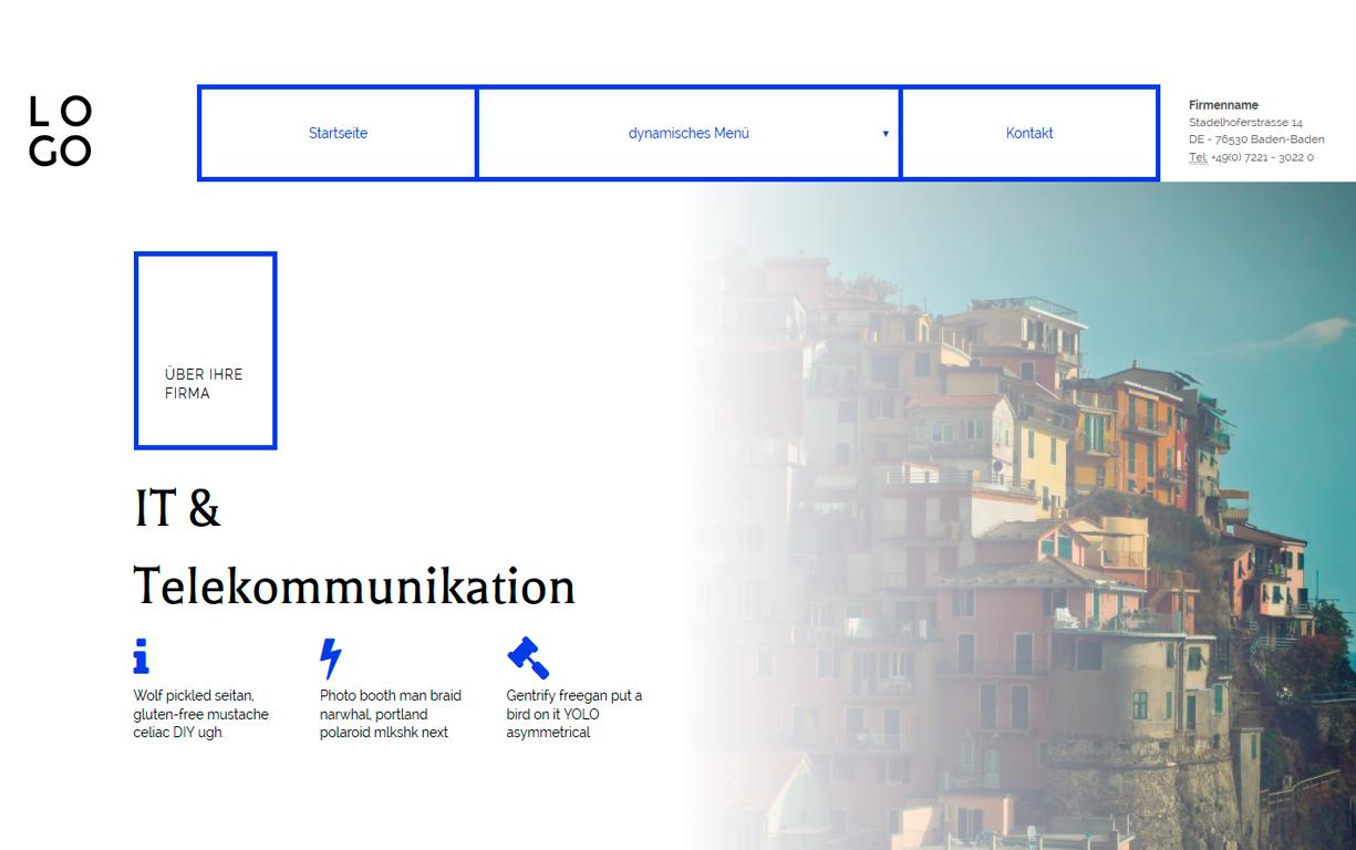 Homepage Templates & Vorlagen & Themes