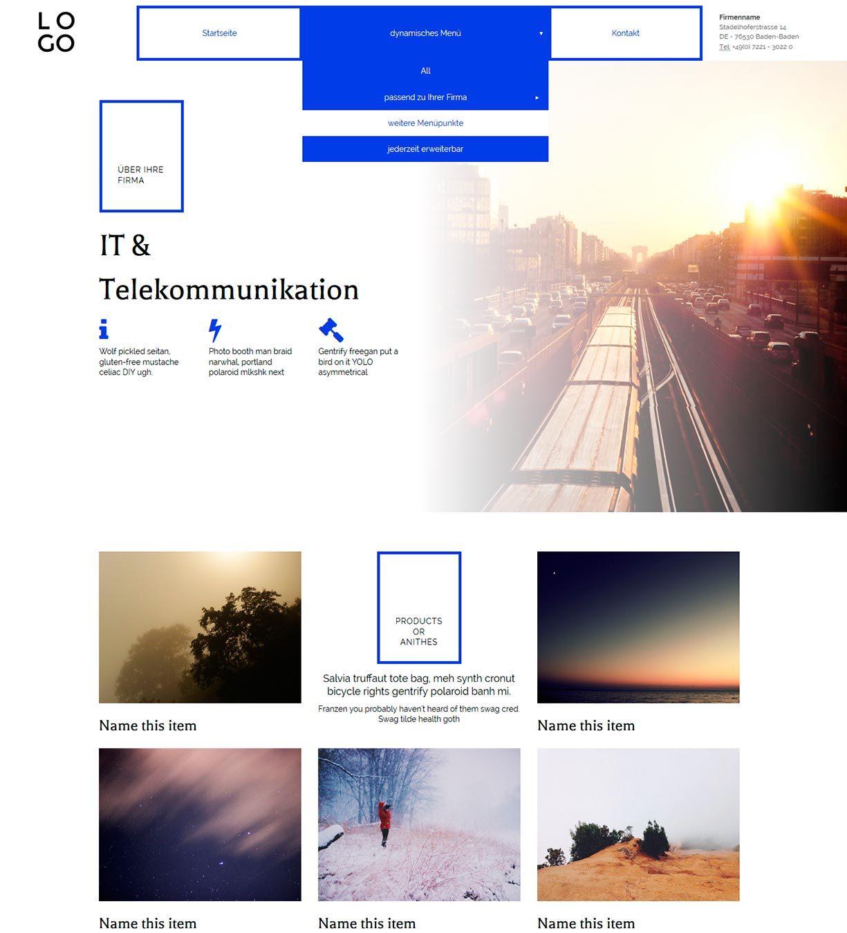 Ziemlich Html Homepagevorlage Fotos - Beispiel Business Lebenslauf ...